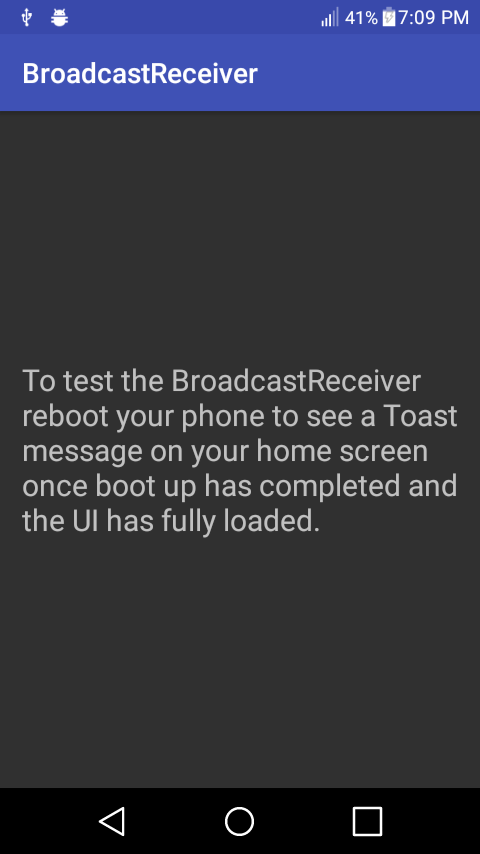 Android BroadcastReceiver