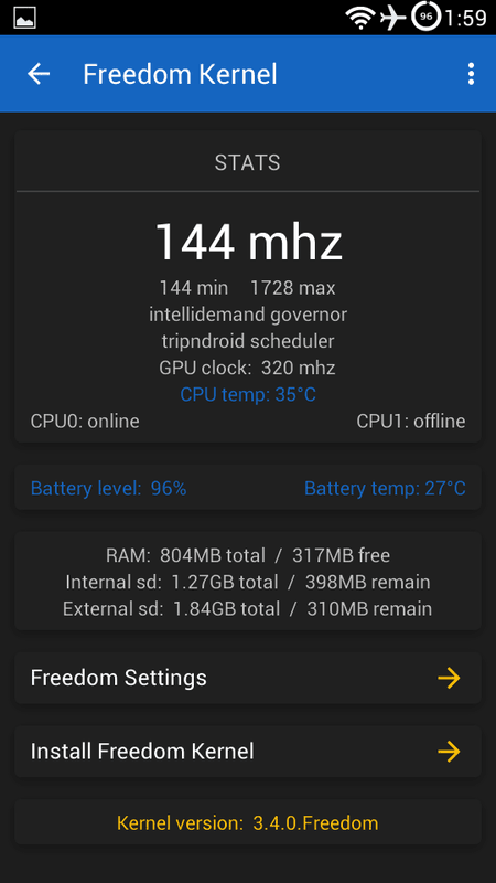 LG Optimus F6 Freedom Kernel