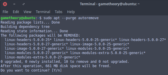 Remove Unused Kernels Ubuntu 18.04