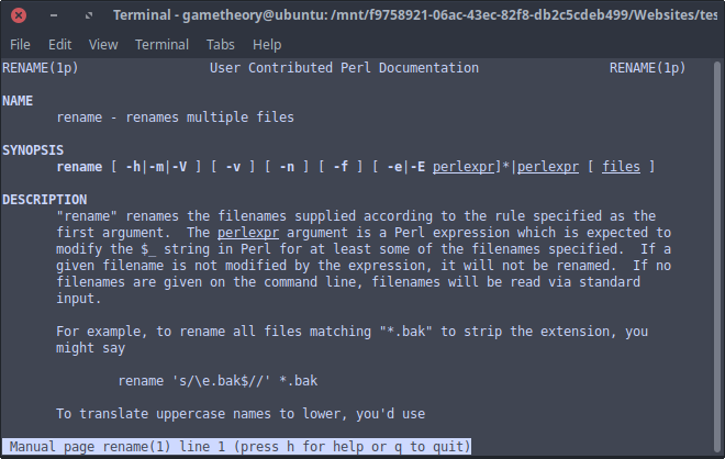Rename Files & Folders Linux Command Line