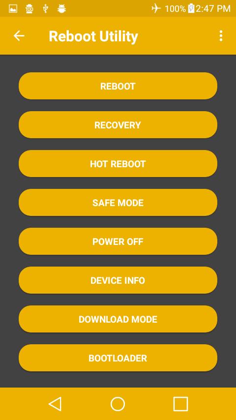Reboot Utility