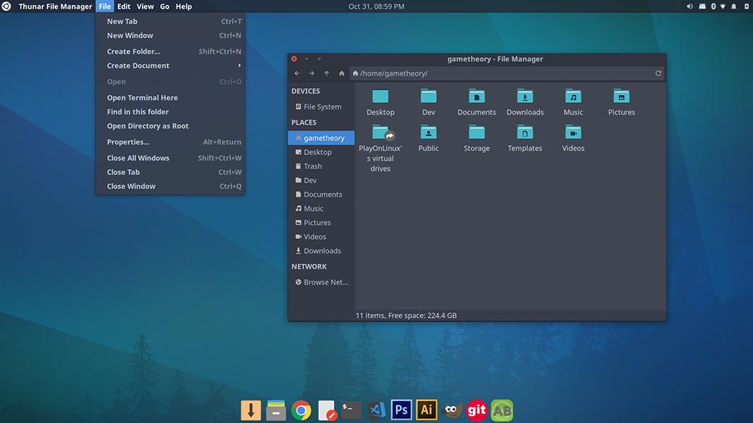 Install a Global App Menu on Xubuntu 18.04
