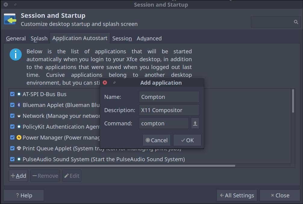 Fix Screen Tearing in Xfce